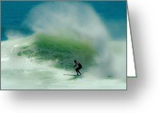 Surf Art La Jolla Digital Art Greeting Cards - Caught by the Backwash Greeting Card by David Rearwin