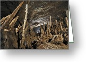 Cavern Greeting Cards - Cave Formations, Borneo Greeting Card by Robbie Shone
