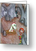 Medeival Greeting Cards - Cave Greeting Card by Jayson Halberstadt