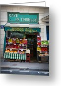 Groceries Greeting Cards - Cave La Tonnelle Greeting Card by Inge Johnsson