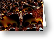 Maria Urso Greeting Cards - Cave of the Garnet Skulls Greeting Card by Maria Urso - Artist and Photographer