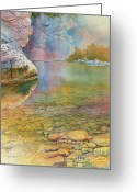 Sedona Greeting Cards - Cave Springs Greeting Card by Robert Hooper