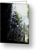 Cavern Greeting Cards - Cavern Cascade Watkins Glen Greeting Card by InTheSane DotCom