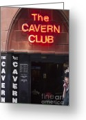 Cavern Greeting Cards - Cavern Club Greeting Card by Andrew  Michael