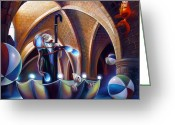 Umbrella Painting Greeting Cards - Caverna Magica Greeting Card by Patrick Anthony Pierson