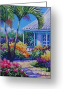 7 Mile Greeting Cards - Cayman Yard Greeting Card by John Clark