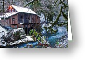Mill Stone Greeting Cards - Cedar Creek Grist Mill Greeting Card by Merrill Beck