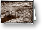 Pete Greeting Cards - Cedar Pete Gravesite In Grafton Utah Greeting Card by Steve Gadomski