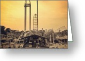Featured Greeting Cards - #cedarpoint #ohio #ohiogram #amazing Greeting Card by Pete Michaud
