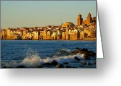 Europa Greeting Cards - Cefalu - Sicily Greeting Card by Sorin Ghencea