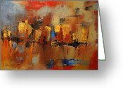 Old Town Painting Greeting Cards - Cefalu Greeting Card by Elise Palmigiani