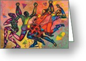 Black Art Greeting Cards - Celebrate Freedom Greeting Card by Larry Poncho Brown