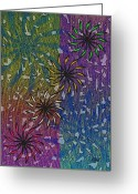 Fireworks Painting Greeting Cards - Celebration Greeting Card by Gordon Beck