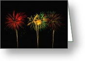 Fire Works Greeting Cards - Celebration Greeting Card by James Heckt