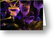 Clear Glass Greeting Cards - Celebration of Light Greeting Card by Barbara  White