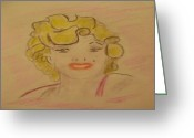 Starlet Greeting Cards - Celebrity Greeting Card by Paul Rapa