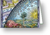 Man Drawings Greeting Cards - Celestial Mechanics Greeting Card by Detlev van Ravenswaay and Photo Researchers