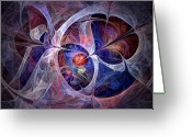 Polaris Greeting Cards - Celestial North - Fractal Art Greeting Card by NirvanaBlues  
