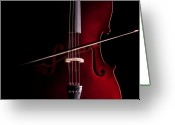 Symphony Greeting Cards - Cello Greeting Card by Dario Infini