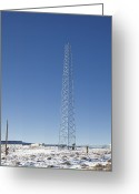 Nv Greeting Cards - Cellphone Tower Greeting Card by David Buffington