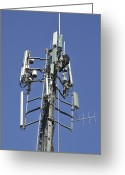 Antenna Greeting Cards - Cellular Antenna Mast Greeting Card by Photostock-israel
