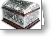Style Reliefs Greeting Cards - Celtic Chest 1 Greeting Card by Rodrigo Santos