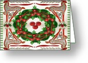 Celtic Knots Greeting Cards - Celtic Christmas Greeting Card by Mike Sexton