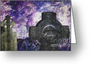 Scare Greeting Cards - Celtic Cross. Glendalough. Ireland Greeting Card by Jenny Rainbow