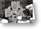 Celtic Greeting Cards - Celtic Cross I Greeting Card by Tom Mc Nemar