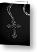 Celtic Greeting Cards - Celtic Cross Greeting Card by Joana Kruse