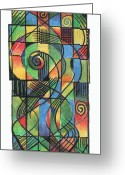 Celt Greeting Cards - Celtic Cruciform  Greeting Card by Andy  Mercer