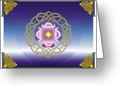 Celtic Knots Greeting Cards - Celtic Dance Greeting Card by Andre Angermann