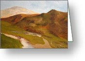 Www.artworkxofmann.com Mixed Media Greeting Cards - Celtic Hills Greeting Card by Roberto Edmanson-Harrison