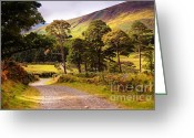Best Seller Greeting Cards - Celtic Spirit in Color. Wicklow  Mountains. Ireland Greeting Card by Jenny Rainbow