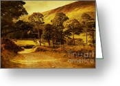 Celt Greeting Cards - Celtic Spirit. Wicklow  Mountains. Ireland Greeting Card by Jenny Rainbow