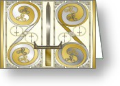 Celtic Knots Greeting Cards - Celtic Swords Greeting Card by Mike Sexton