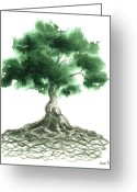 Irish Greeting Cards - Celtic Tree Of Life Greeting Card by Sean Seal