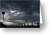 Railings Greeting Cards - Celtic Twilight Greeting Card by Marion Galt