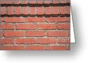 Brick Greeting Cards - Cemented Greeting Card by Dan Holm