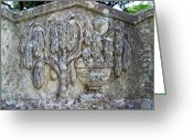Relief Work Greeting Cards - Cemetery Art Greeting Card by Patricia Taylor