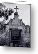 Landscape Framed Print Greeting Cards - Cemetery At Mission Santa Barbara I Greeting Card by Steven Ainsworth
