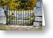 Cemetery Gate Greeting Cards - Cemetery Gate Greeting Card by Jim  Calarese