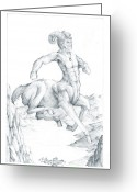 Fantasy Creature Greeting Cards - Centaur 1 Greeting Card by Curtiss Shaffer