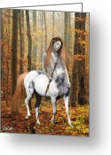 Contemplation Digital Art Greeting Cards - Centaur Series Autumn Walk Greeting Card by Nikki Marie Smith