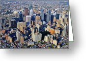 Duncan Pearson Greeting Cards - Center City Philadelphia Large Format Greeting Card by Duncan Pearson