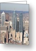 Liberty Place Greeting Cards - Center City Philadelphia Portrait Greeting Card by Duncan Pearson