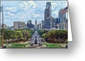 Kevin Sherf Greeting Cards - Center City Philly Greeting Card by Kevin  Sherf