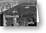 The Capital Of The World Greeting Cards - Central Park BW6 Greeting Card by Scott Kelley
