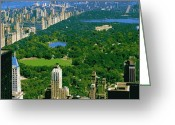 The Capital Of The World Greeting Cards - Central Park Color 16 Greeting Card by Scott Kelley