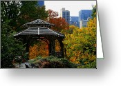 Central Park Photo Greeting Cards - Central Park Gazebo Greeting Card by Christopher Kirby